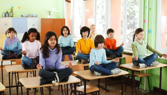 "Modular Classroom Yoga ~ Kids and stress are more ""stressed today — if"